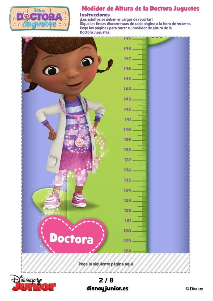 Medidor De Altura De Doctora Juguetes Para Imprimir Doc Mcstuffins Party Disney Junior Christmas Ornaments