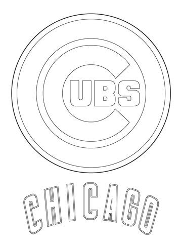 Chicago Cubs Logo Coloring Page From Mlb Category Select From