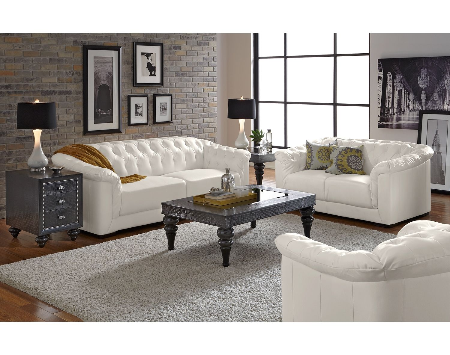 The Giorgio Collection Leather Sofa Living Room Leather Living Room Set White Furniture Living Room