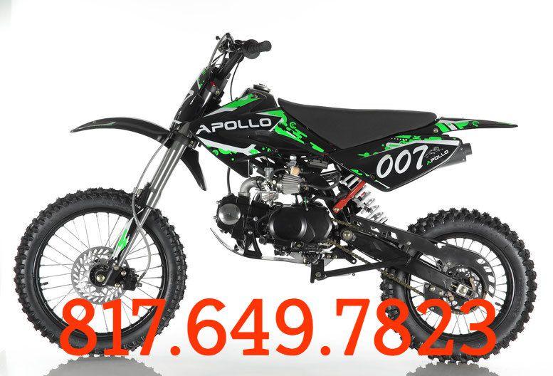 Apollo 125cc Db 007 Dirt Bike Kick Start 4 Stroke Single Cylinder