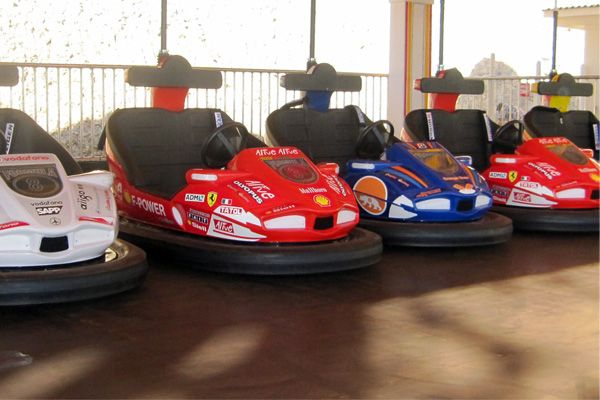 bumper cars!!! otherwise known as you can crash and your insurance rates won't go up