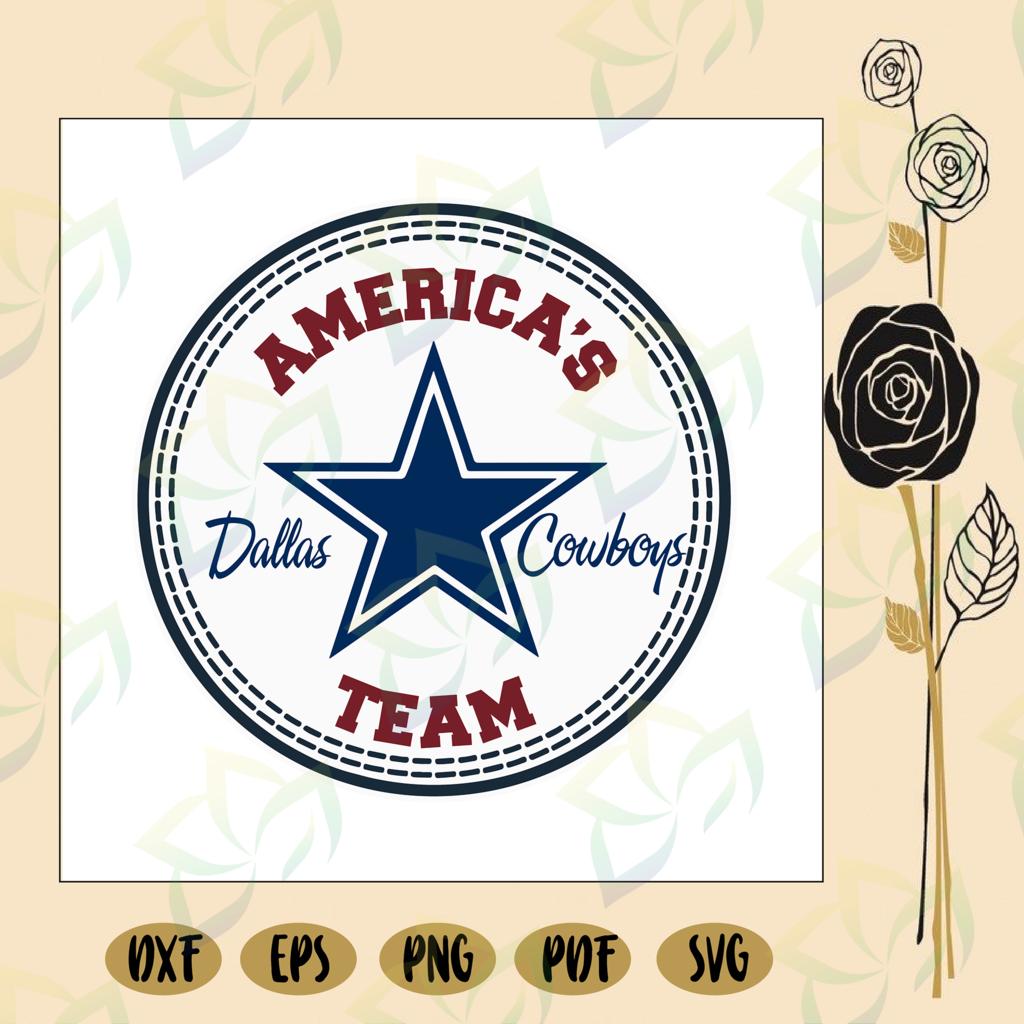 Dallas cowboys america's team, NFL svg, football svg file