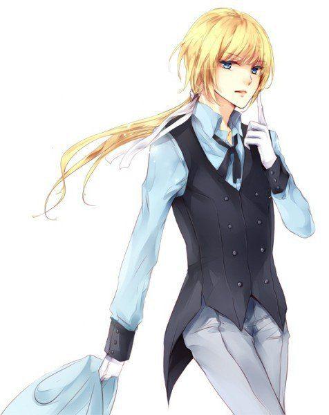 Парень с длинными волосами аниме
