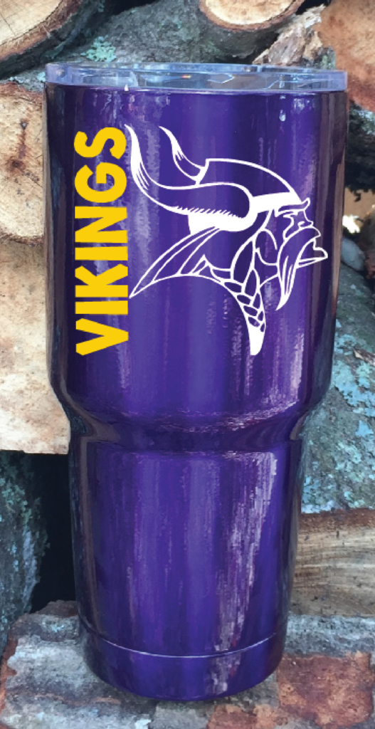 28fe99536ca Minnesota Vikings Yeti 30 ounce Powder Coated Candy Purple with Oracal 751  Vinyl Decal