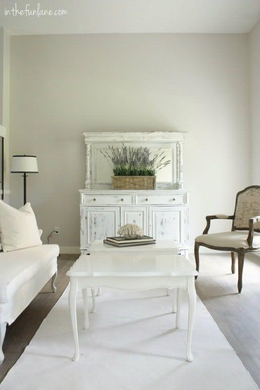 Martha Stewart paint in Whetstone Grey | trim, Elegant White by ...
