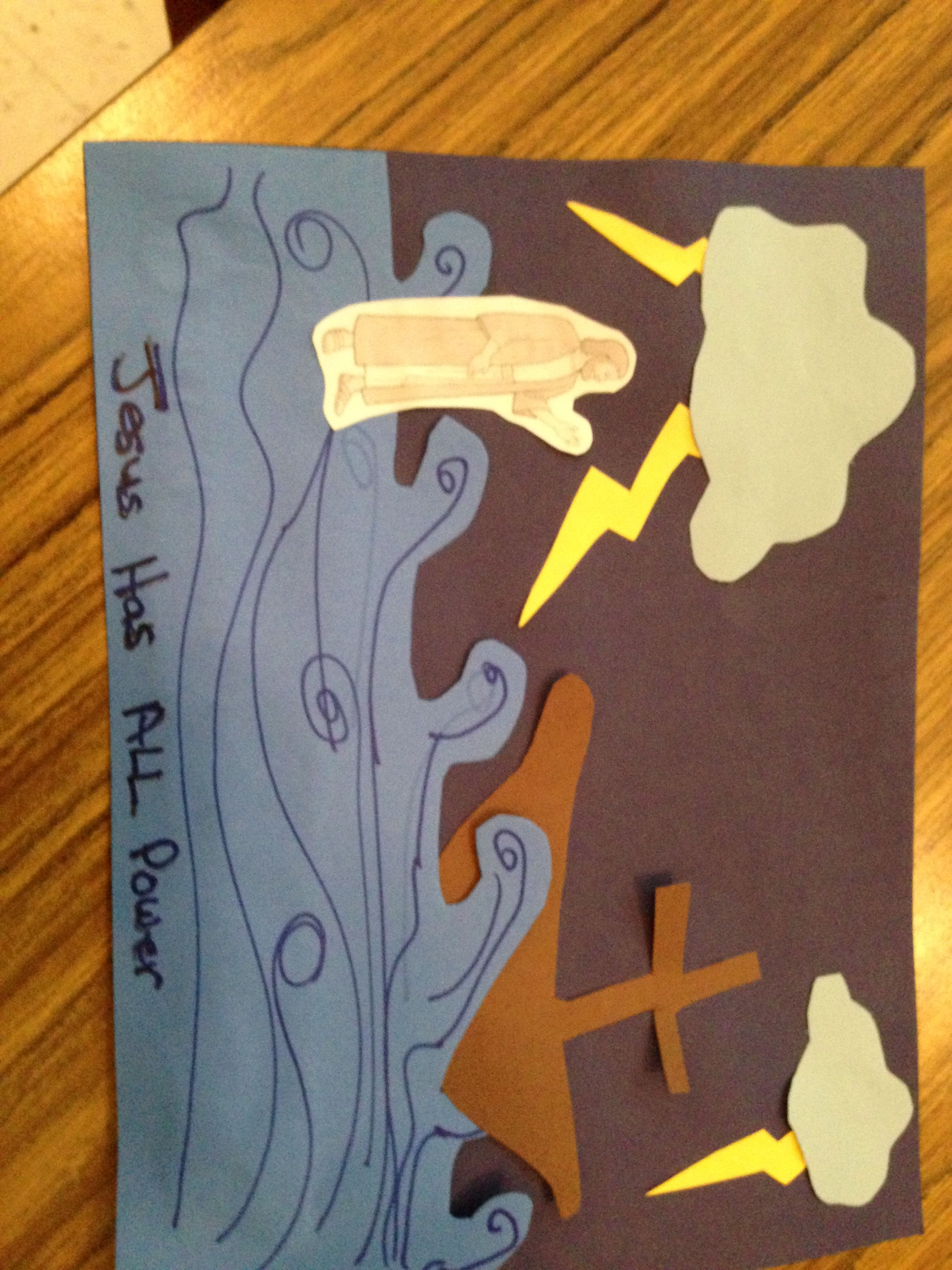 Children S Craft Jesus Walks On Water In The Middle Of