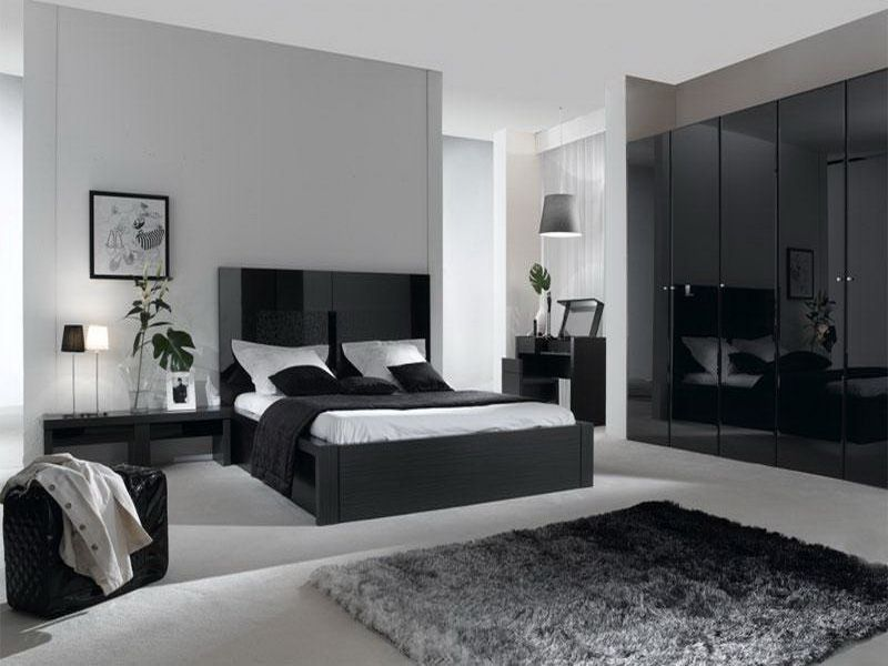 Exceptional Bedroom Color Gray | Contemporary Gray Bedroom Color Schemes With Glass  Divider