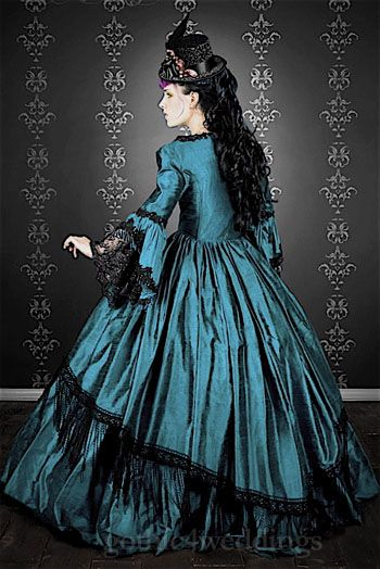 Gothic Victorian Marie Antoinette Wedding Gowns | Steampunk Clothing ...
