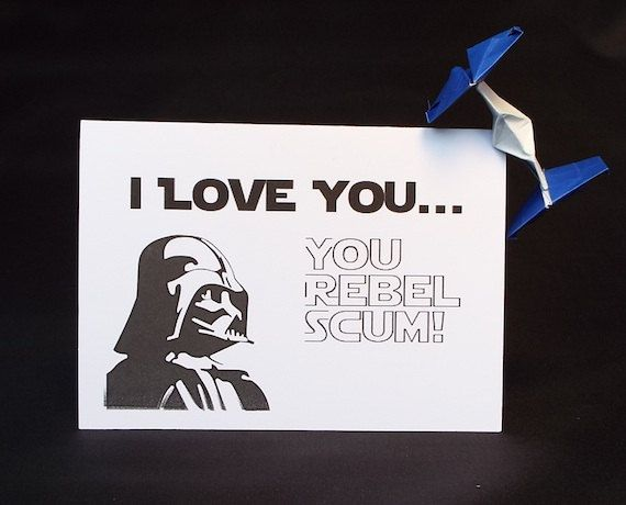 Star Wars Anniversary Card For Boyfriend Or Girlfriend I Love