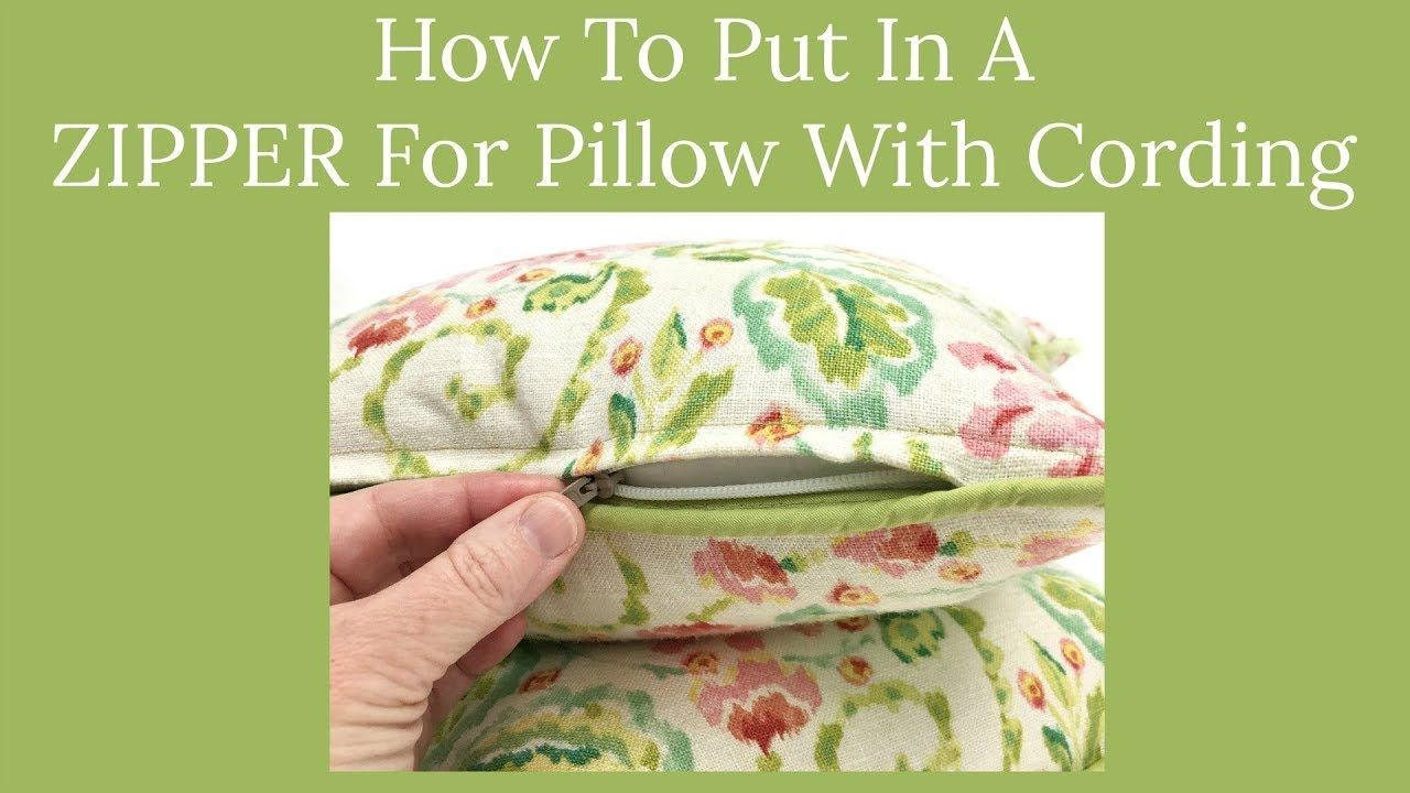How To Put In A Zipper For Pillow With Cording YouTube