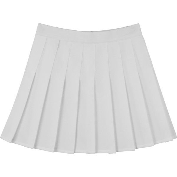 White Pleated Skirt High Waist Tennis Pleated Skirt 480 Twd Liked On Polyvore Featuring Skirts White Pleated Skirt White Knee Length Skirt Pleated Skirt