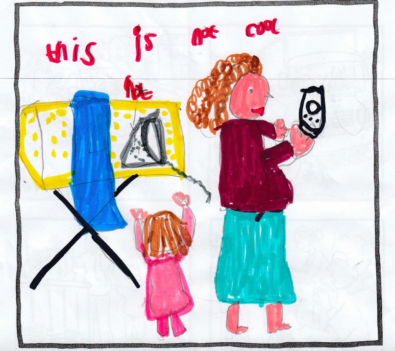 Maria, age 6 Q: How do you feel when adults are distracted by their phones? A: I feel sad because it is lonely #turnofftunein #childsafetyweek #distractionisdangerous