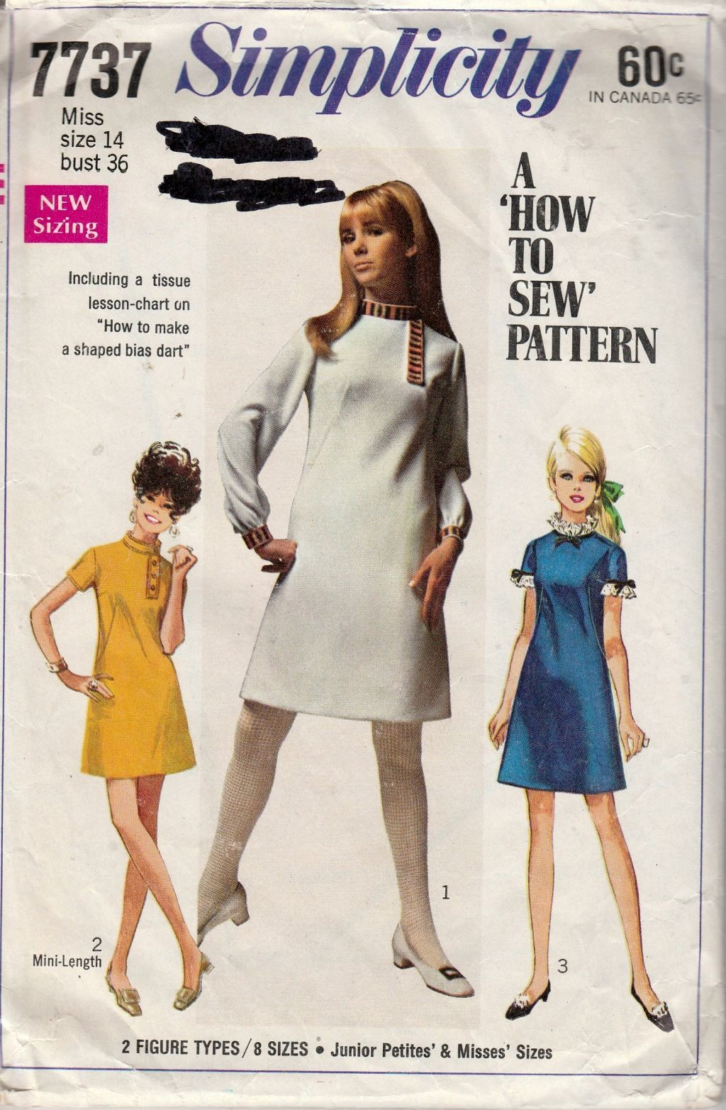 Simplicity 7737 vintage 1960s sewing pattern ladies mad men mod simplicity 7737 vintage 1960s sewing pattern ladies mad men mod dress a line jeuxipadfo Choice Image