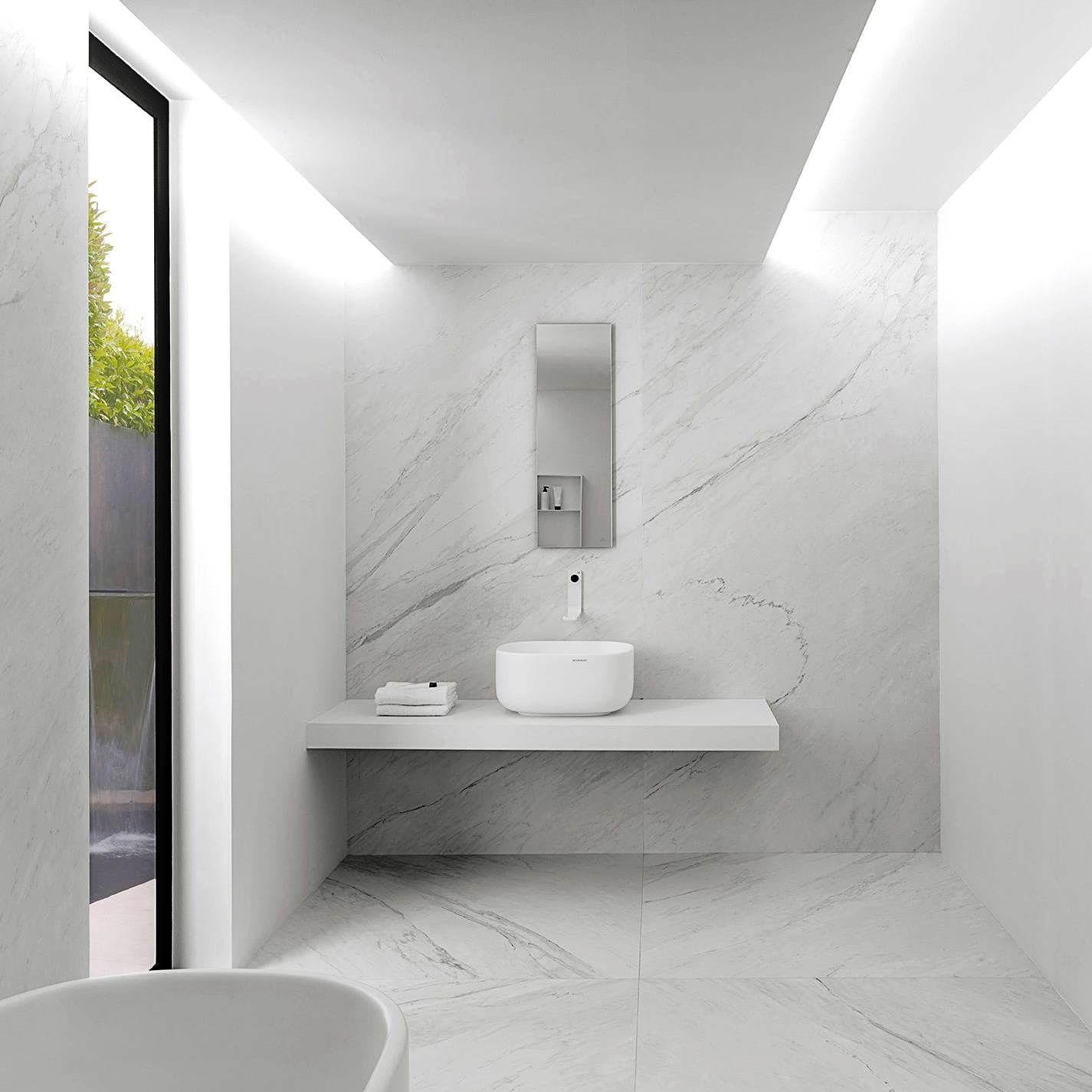 Xlight Large Format Porcelain Tiles Retreat Design Bathroom Wall Tile Marble Tile Bathroom Modern White Bathroom