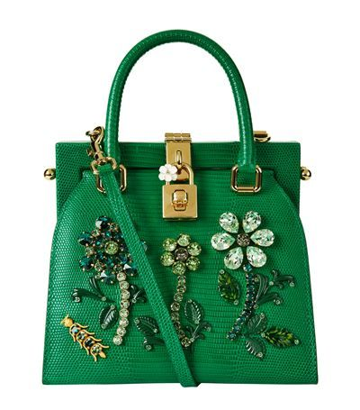 aaf03ad4c0dc DOLCE   GABBANA Mini Iguana Print Top Handle Bag.  dolcegabbana  bags   shoulder bags  hand bags  leather  crystal