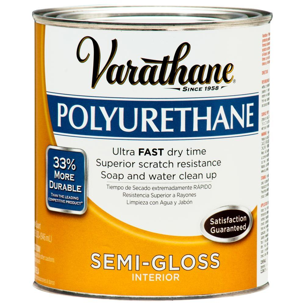 Varathane 1 Qt Amber Semi Gloss Interior Polyurethane 2 Pack 266244 Varathane Stain Interior Wood Stain Polyurethane Floors