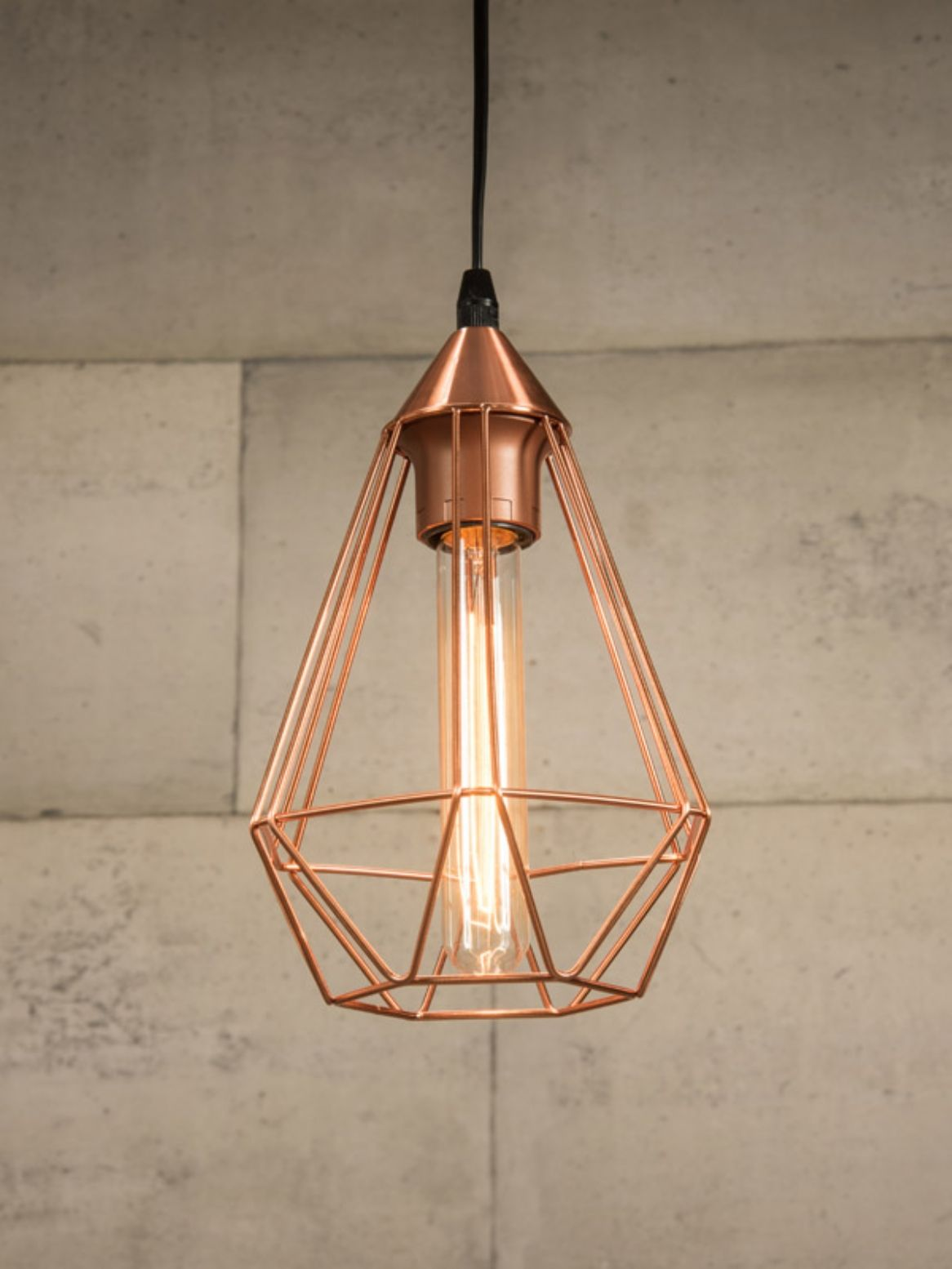 Copper Wire Cage Pendant Light