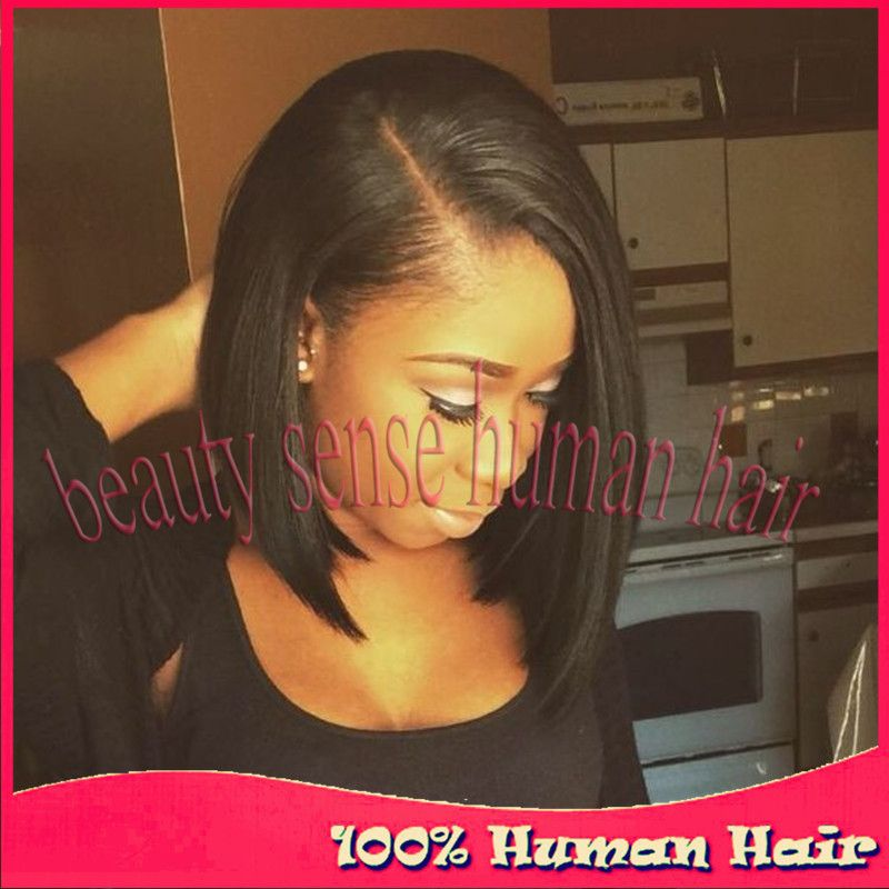 Find More Human Wigs Information about Hot selling Glueless Full lace wigs Side part Virgin Brazilian wigs Silky straight Short Bob Lace front wigs Human hair instock,High Quality wigs for black women,China wig pro wigs Suppliers, Cheap wig ring from Top-level beauty sense human hair on Aliexpress.com