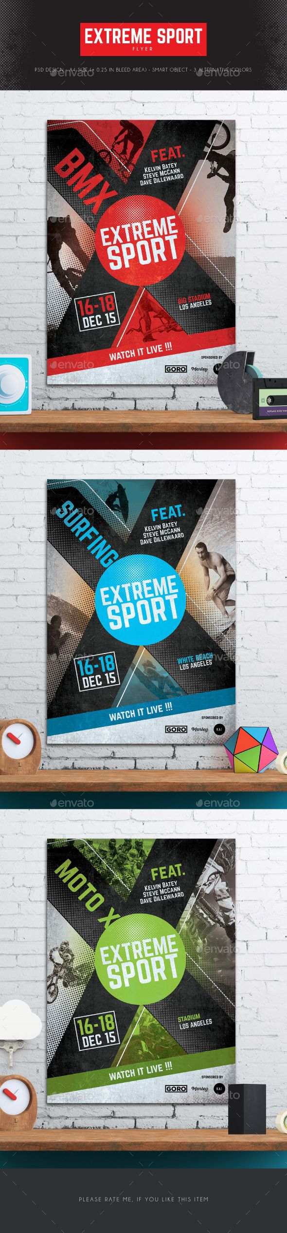 Extreme Sport Flyer  Flyer Template Template And Event Flyers