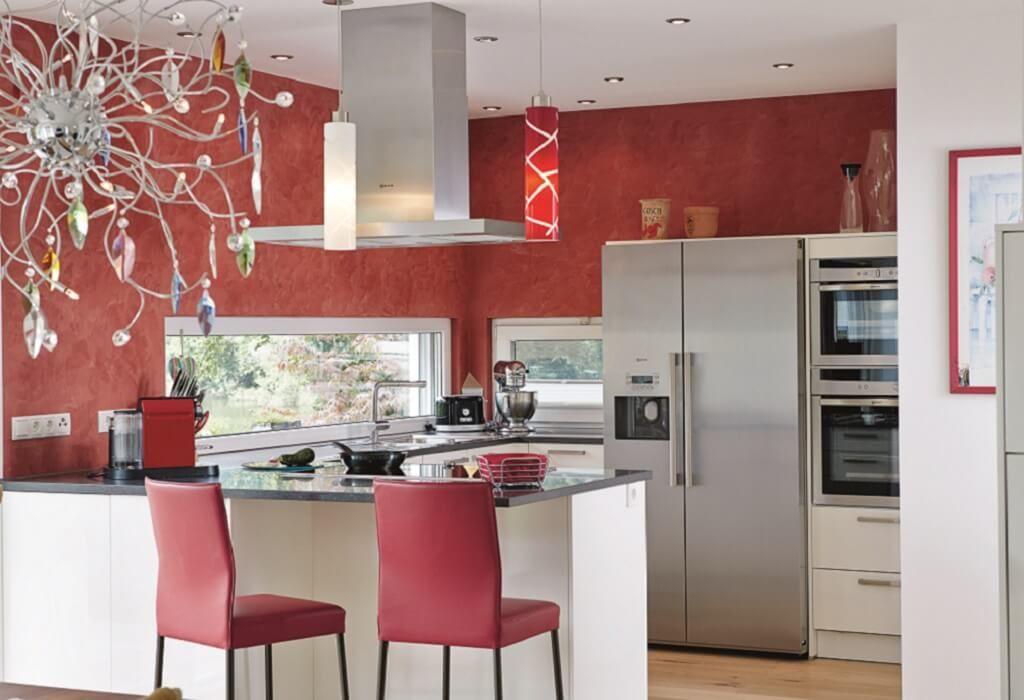 Offene Küche mit Theke und Sitzgelegenheit - Ideen Einrichtung - offene küche mit theke