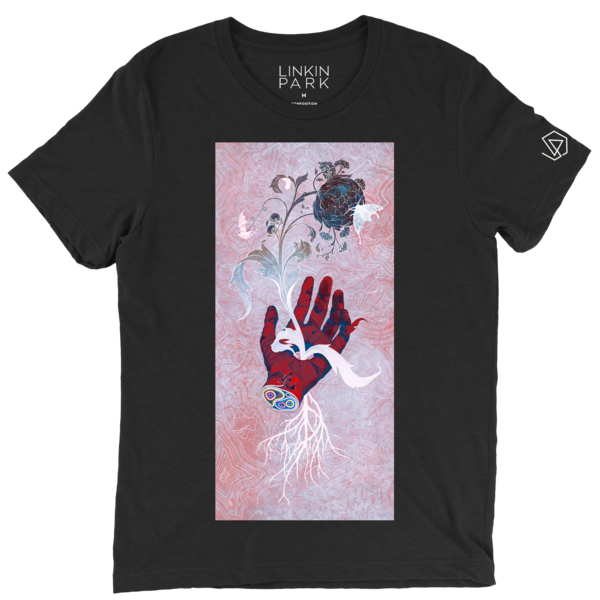 89169616e13 Black tee shirt with artwork created by renowned artist James Jean for the  Linkin Park and Friends Celebrate Life show honoring Chester Bennington.