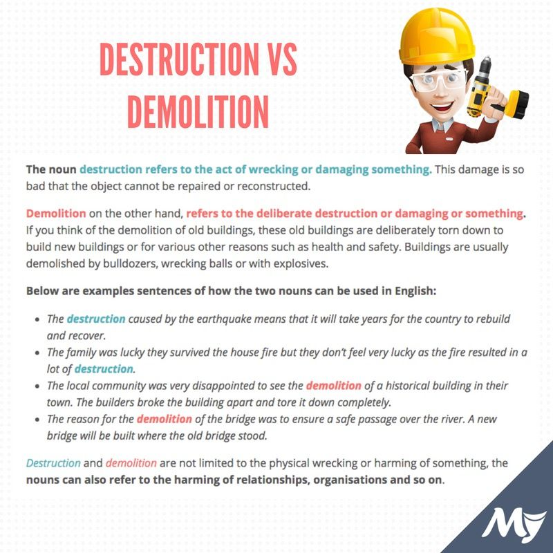 destruction vs demolition