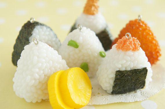 1pc Onigiri / Japanese Rice Ball Charm Choose by misssapporo