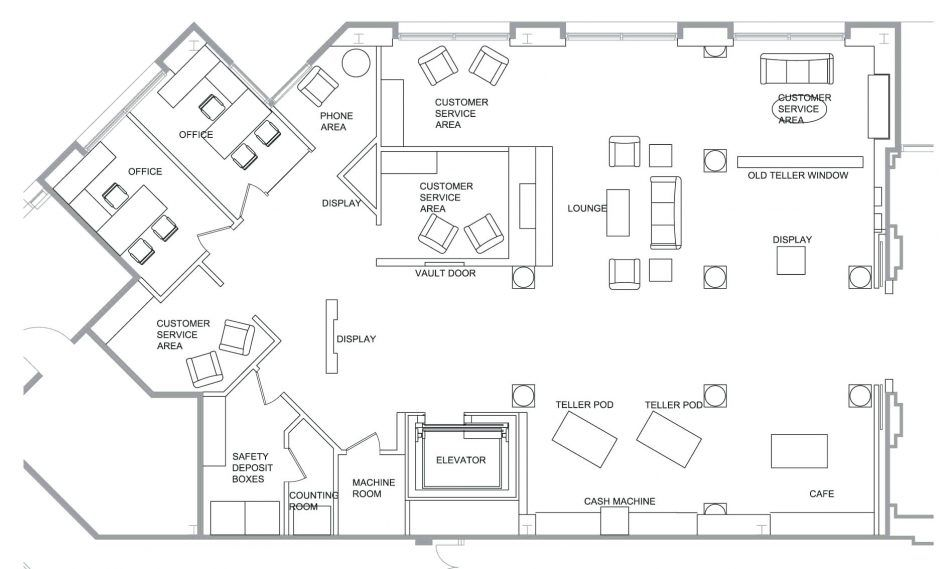 Image result for floor plan for bank | Floor plans, Vault ... on house drawings, house styles, house painting, house maps, house roof, house blueprints, house plants, house exterior, house elevations, house foundation, house models, house construction, house clip art, house framing, house design, house types, house structure, house layout, house rendering, house building,