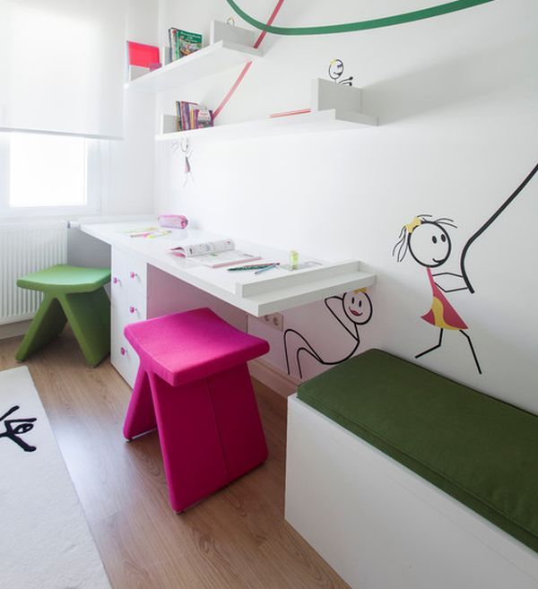 Desk Design Ideas Part - 31: 29 Kidsu0027 Desk Design Ideas For A Contemporary And Colorful Study Space