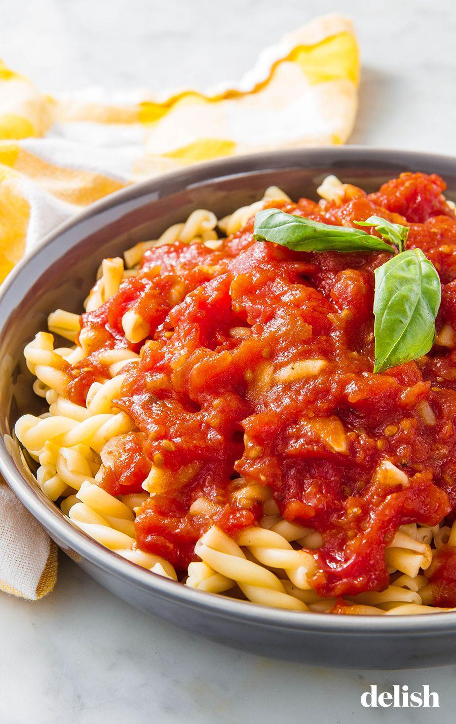 Easy Homemade Marinara Recipe Homemade Pasta Easy Pasta Recipes Homemade Pasta Sauce Easy