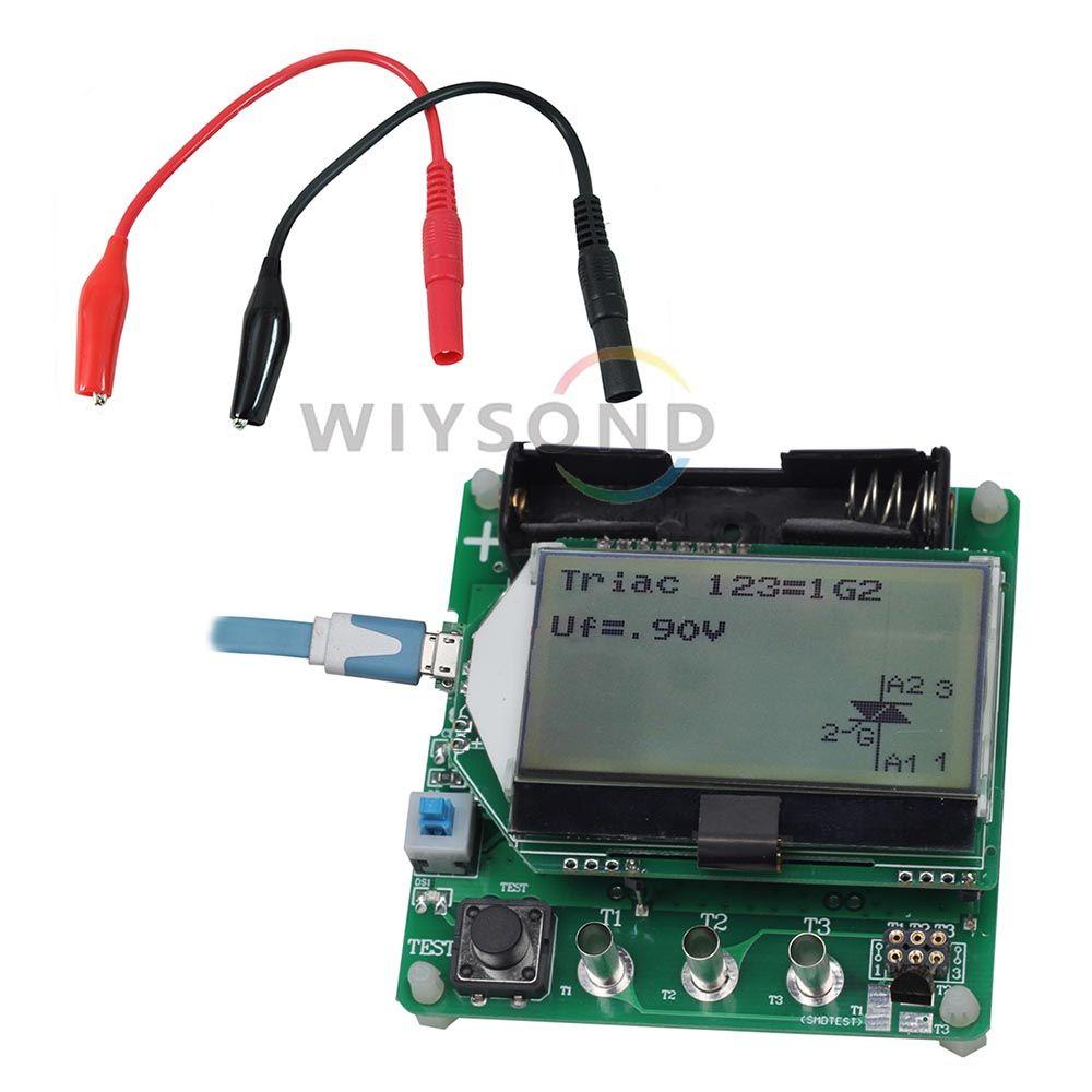Buy M083 Esr02 Digital Lcr Meter Multimeter Transistor Tester Diode Thyristor Triode F C R Mospnpnpn Test Lead Clip