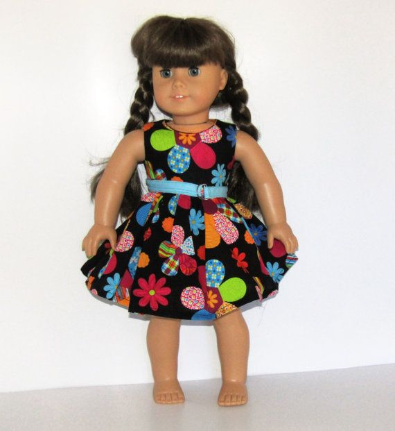 Sleeveless Big Flowers Dress with Belt Made to Fit by something2do