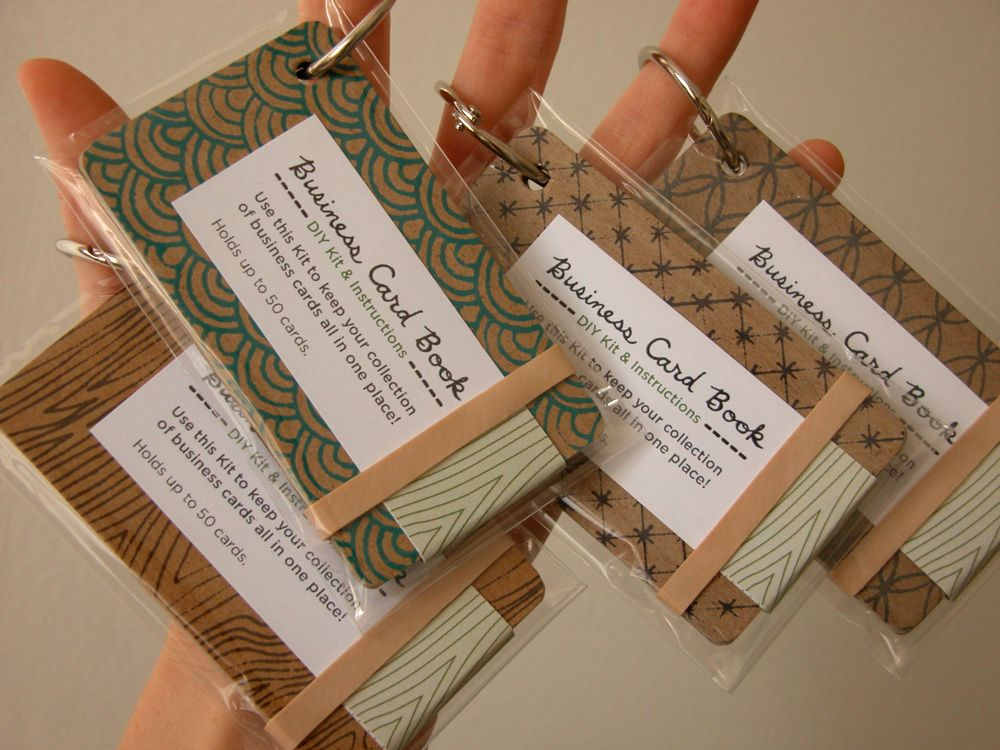 Erinzam News » Blog Archive » New DIY Kit – Business Card Book | DIY ...