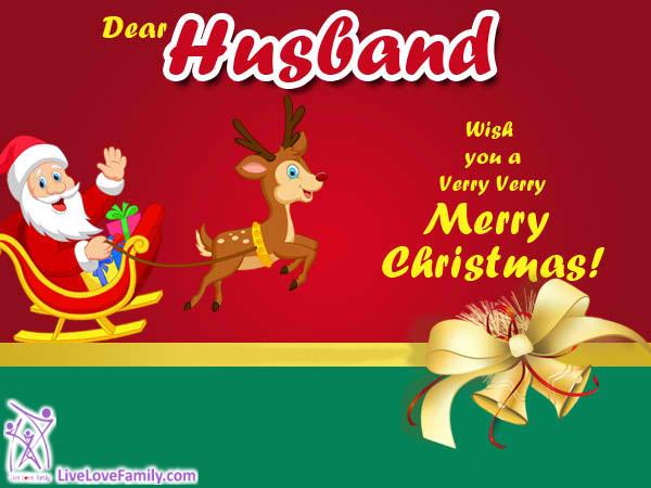 Dear husband, wish you a very, very, merry Christmas