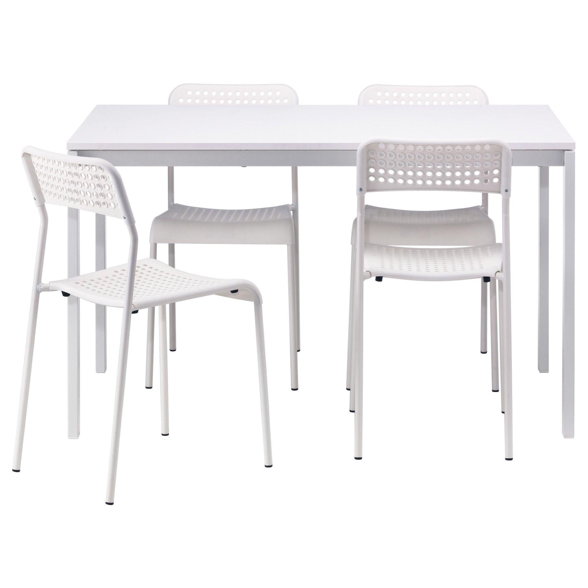 MELLTORP ADDE Mesa con 4 sillas blanco Decoracin