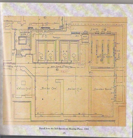 Biltmore House Sub Basement Detail Floorplan Biltmore House Biltmore Biltmore Estate
