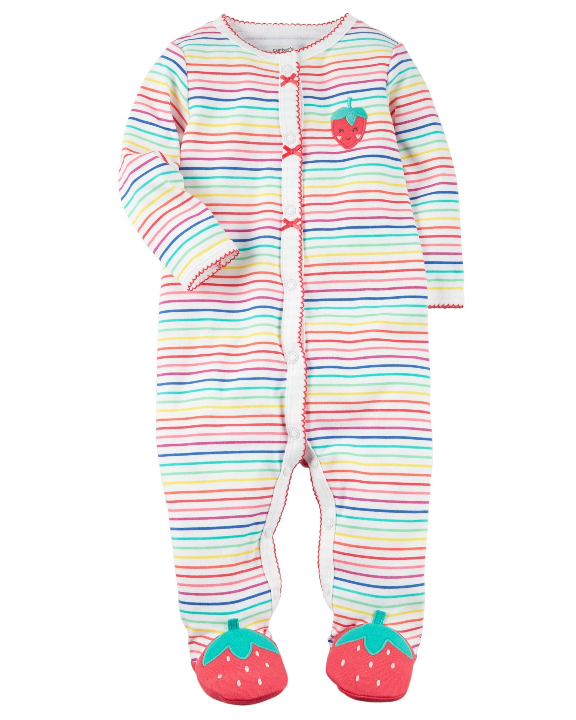 fe4ab50630ee Snap-Up Strawberry Cotton Sleep   Play