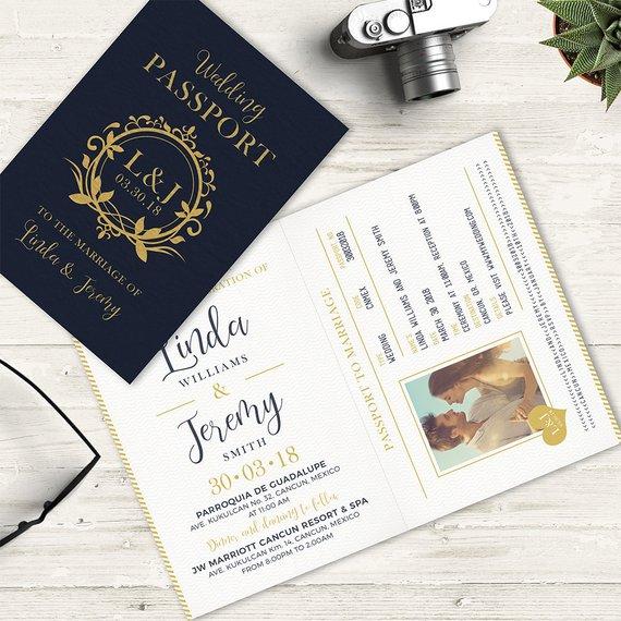 Passport Invitation For A Destination Wedding This Travel Etsy Passport Invitations Passport Wedding Invitations Passport Wedding