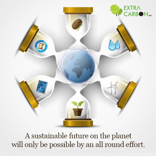 A sustainable future on the planet is possible only & only by finding a 360 degree solution covering all issues.  Know how #ExtraCarbon is the answer to some major issues: http://www.extracarbon.com/