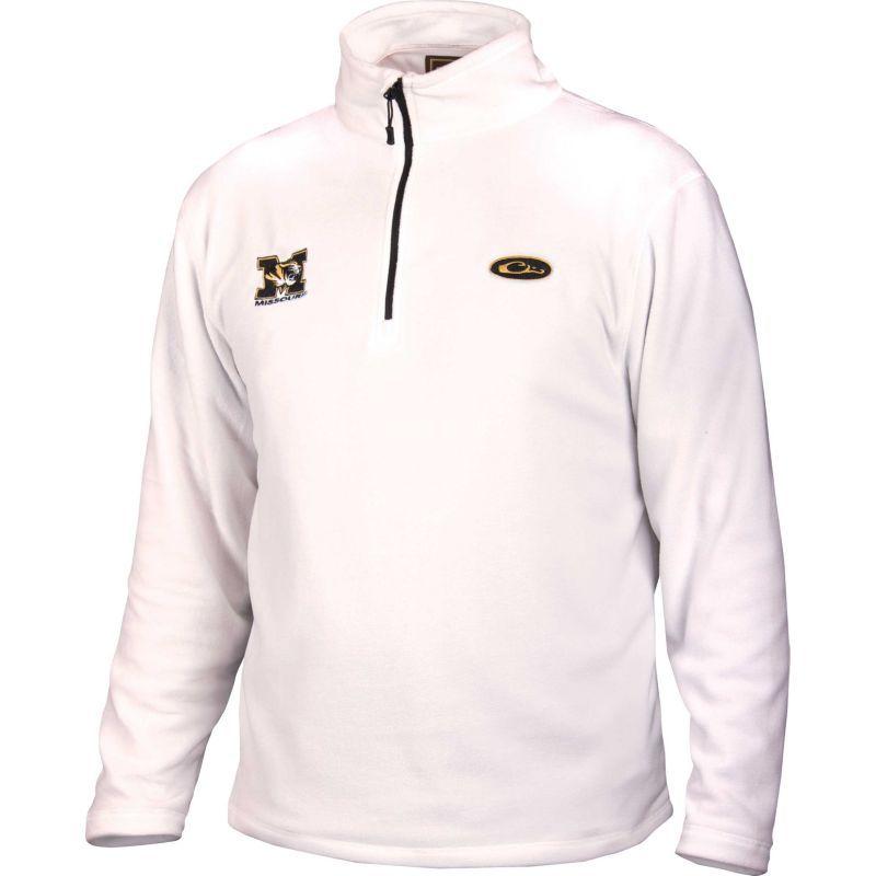 58933739ccd75 Drake Waterfowl Men's Missouri Half-Zip Camp Fleece Jacket, Size: Medium,  White
