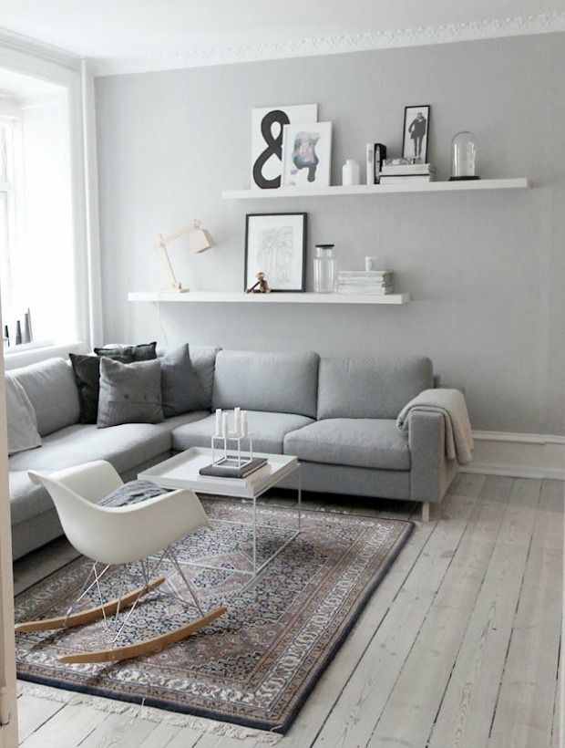 Simple Yet Stunning Living Room Decor Ideas #3: Blend Soft Grey Tones With  White