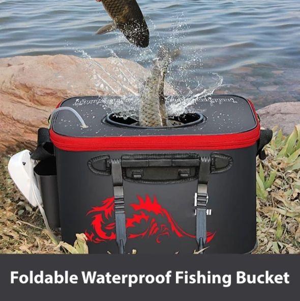 Mga resulta ng larawan para sa FOLDABLE FISHING BUCKET GIF