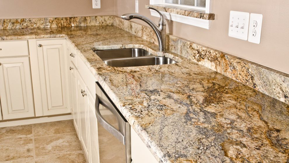 River Yellow Kitchen Prefab Granite Countertop Granite Countertops Kitchen Prefab Granite Countertops Granite Countertops