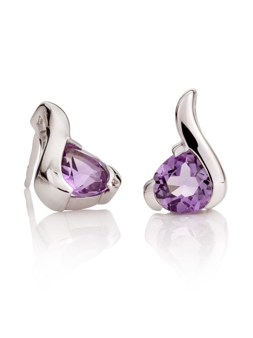 Shop for our Sensual earrings with Amethyst gemstones £100.00