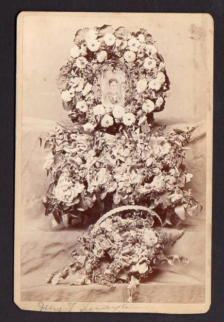 1880's MOURNING*MEMORIAL*FUNERAL*CABINET CARD*MELANDER PHOTOGRAPHERS*CHICAGO