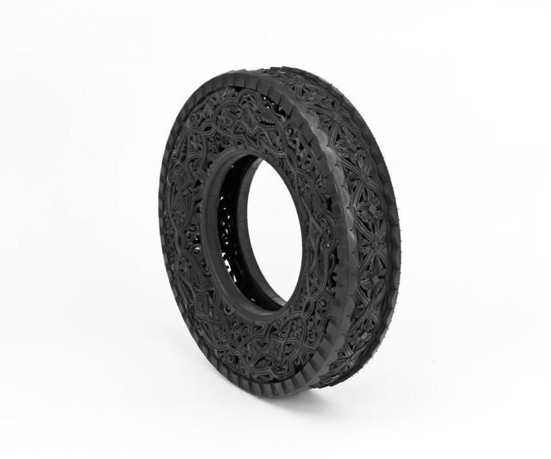 Hand carved car tyres by Wim Delvoye  http://www.wimdelvoye.be/tyres.php