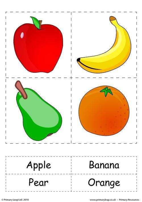 Set Of 4 Flashcards With Words Fruit Flashcards Kids Learning Alphabet Flashcards For Kids Preschool learning worksheets uk
