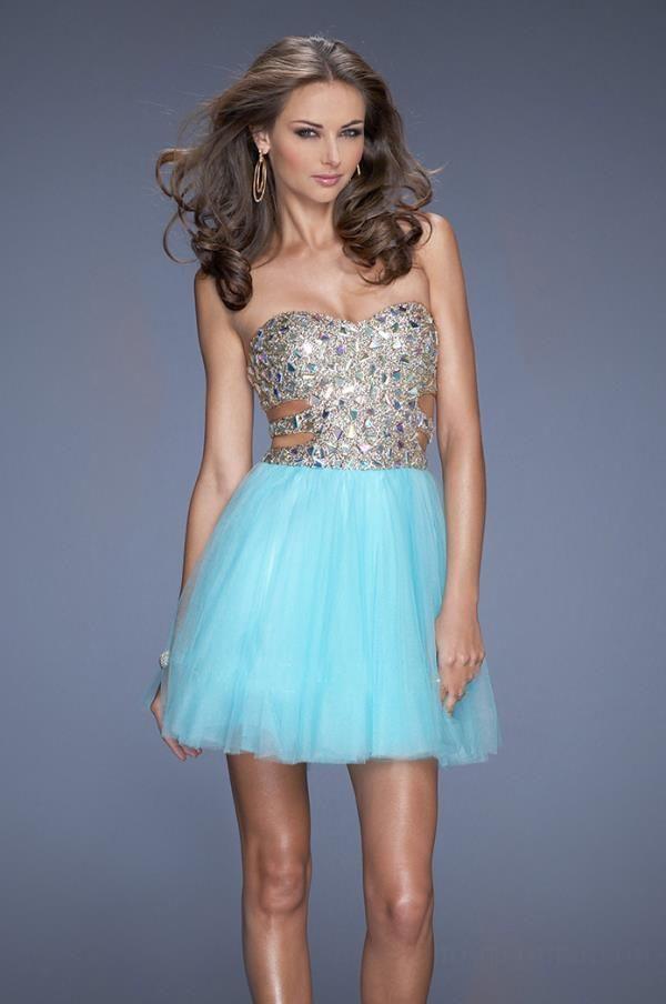 ihomecoming.com SUPPLIES Gorgeous Sweetheart A-Line Rhinestone Charming Homecoming Dress Sexy