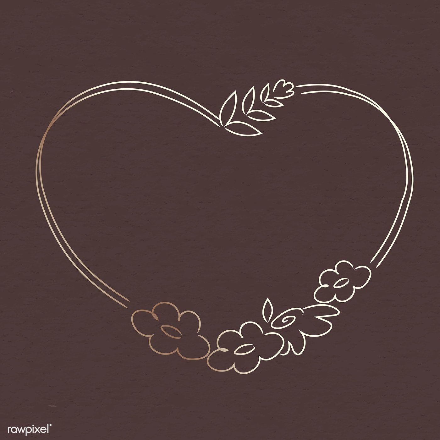 Photo of Laden Sie den kostenlosen Vektor des niedlichen Gekritzelblumenkranzes in einer Herzformvektor herunter