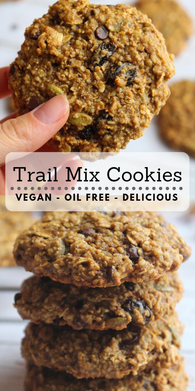 Vegan Trail Mix Cookies